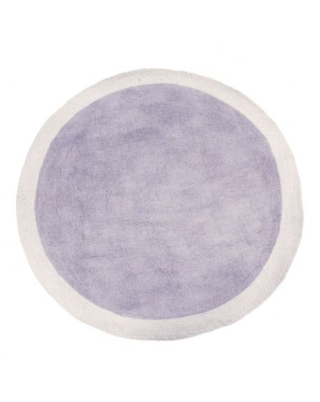 MUSKHANE-LUMBINI Tapis rond en feutre / 120 cm Pierre clair / Iris