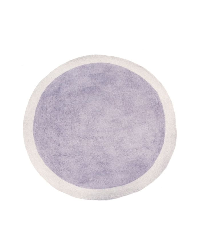 lilac round rugs muskhane rug in felt for bedrooms or other rooms in the house