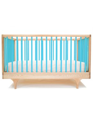 KALON STUDIOS - CARAVAN color, design convertible cot - Turquoise