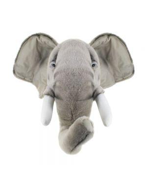 WILD & SOFT - Trophée en peluche - Tête d'éléphant