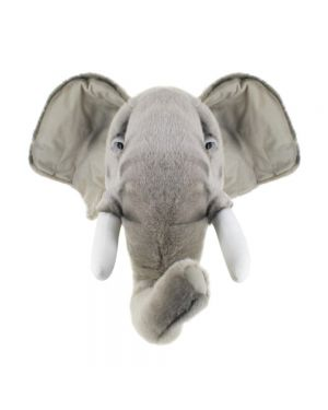WILD & SOFT - Trophy in plush - Elephant's head