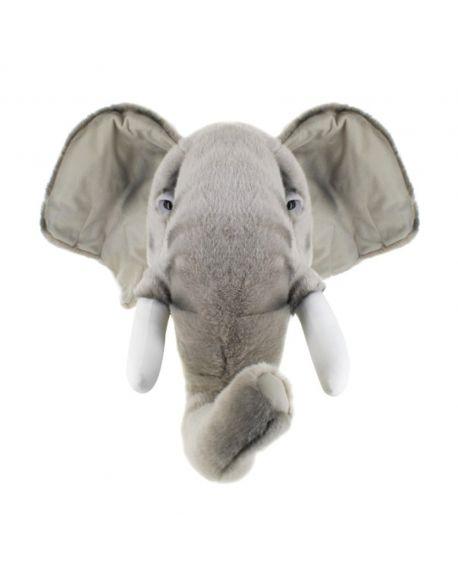 WILD & SOFT - Trophée en peluche - Tête d'éléphant George
