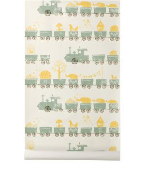 FERM LIVING-PAPIER PEINT-Petit Train