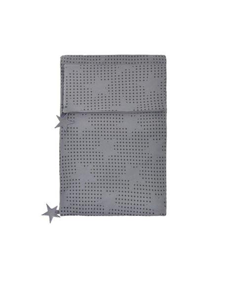 JACK N'A QU'UN OEIL - PEGASE - Duvet cover 140 x 200 cm + Pillow case 65 x 65 cm Dark grey with