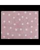 LORENA CANALS-TAPIS COTON POIS-FOND ROSE / POIS-120 x 160 cm