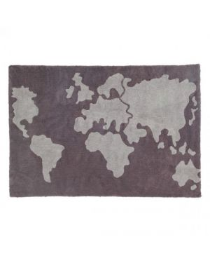 LORENA CANALS - COTON MAP BROWN - 140 X 200 cm