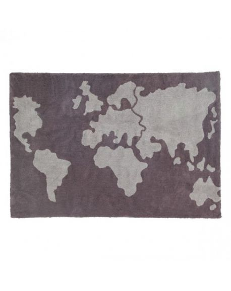 LORENA CANALS - COTON MAP BROWN - 140 X 200 cm
