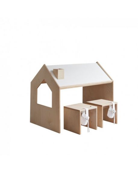 KUTIKAI - Playhouse Desk - Roof Collection - 100x64cm