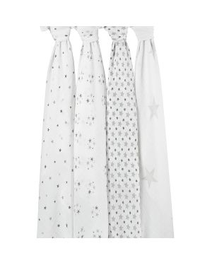 ADEN & ANAIS - Set of 4 maxi swaddles - Twinkle