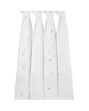 ADEN & ANAIS - Set of 4 maxi swaddles - Super Star Scout
