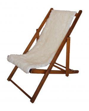 TOILES CHICS - Deck chair in fake fur - raw