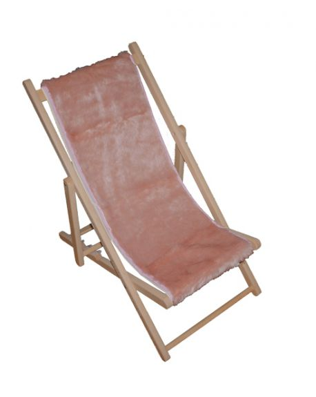TOILES CHICS - Deck chair in fake fur - pink