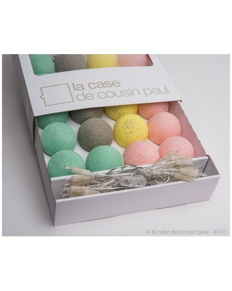 CASE DE COUSIN PAUL-VENEZIA Fancy Light/ Mint, pink & yellow