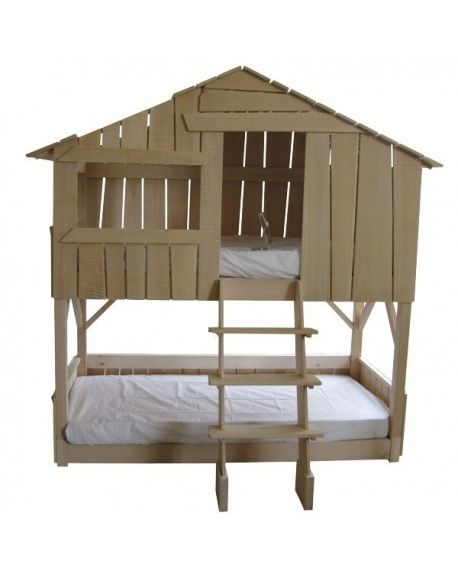 MATHY BY BOLS - Tree House Bunk Bed - Lime Wood - varnish optionnal