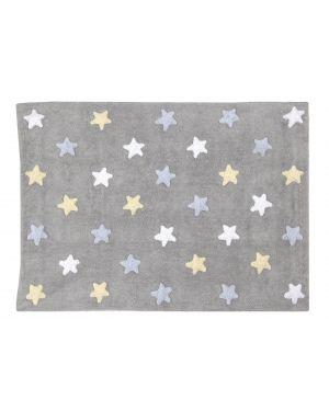 LORENA CANALS - TRICOLOR STARS - Grey/Blue - 120 X 160 cm