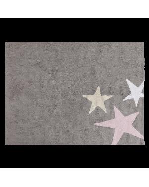 LORENA CANALS - 3 STARS - Grey/Pink - 120 x 160 cm