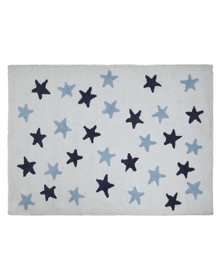 LORENA CANALS - TAPIS MESSY STARS - Bleu - 120 x 160 cm